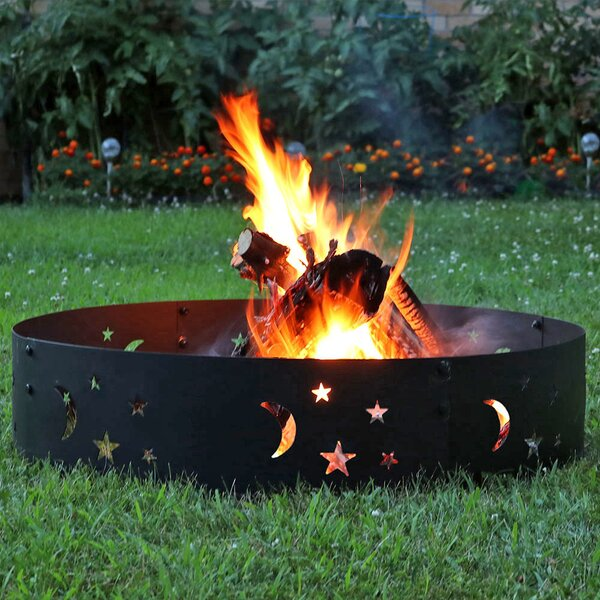Big Sky Steel Wood Fire Ring by Wildon Home ®