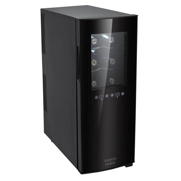 12 Bottle Dual Zone Freestanding Wine Refrigerator By Koblenz