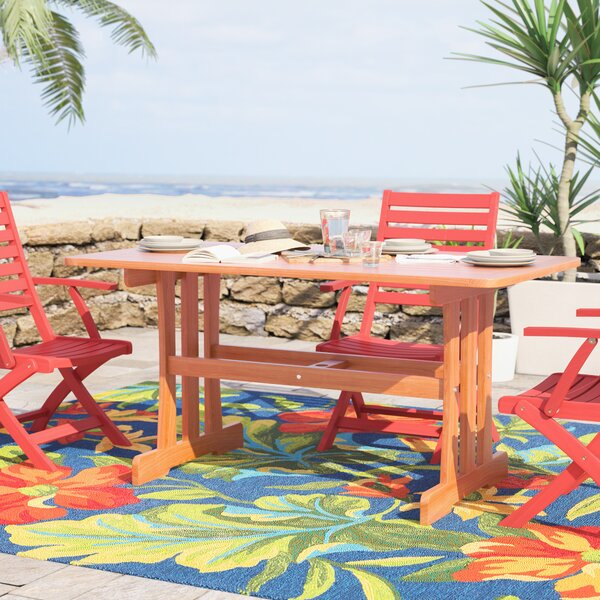 Joaquin Wooden Dining Table by Beachcrest Home