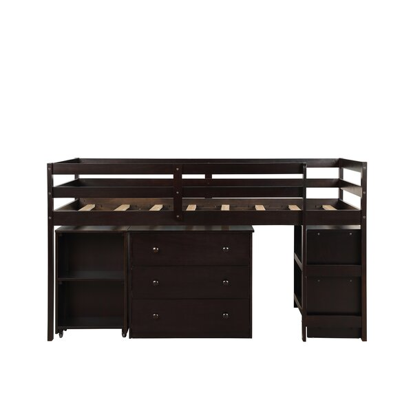 Alkire Twin Low Loft Bed with Drawers by Harriet Bee