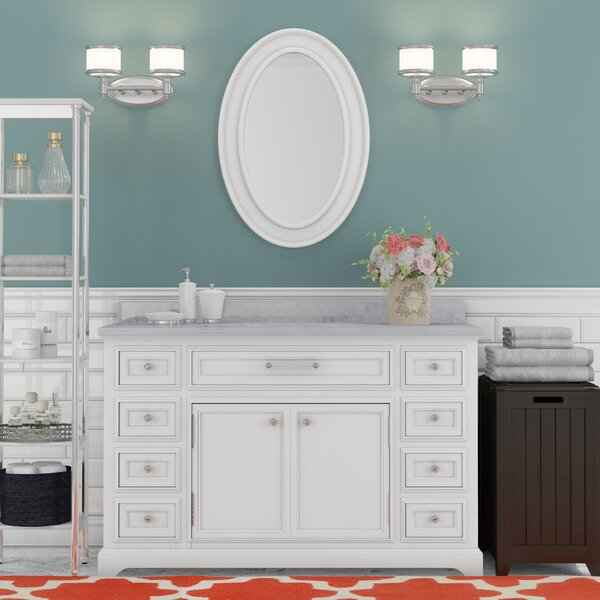 Bergin 48 Single Sink Bathroom Vanity Set with Mirror by Three Posts