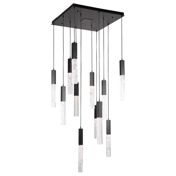Axis 12 - Light Novelty Square LED Chandelier by Hammerton Studio Hammerton Studio