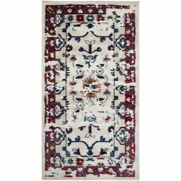Angenetta Power Loom Red/Khaki Rug