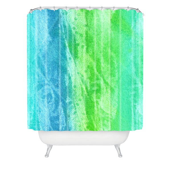 Caribbean Sea by Laura Trevey Shower Curtain by East Urban Home