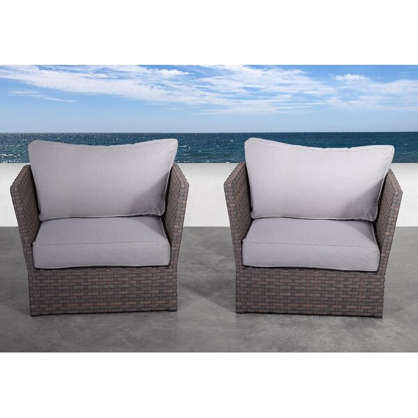 Azriel Patio Chair with Cushions (Set of 2) by Highland Dunes