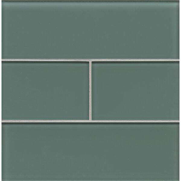 Harbor Glass 4 x 12 Glass Field Tile in Sea by Grayson Martin