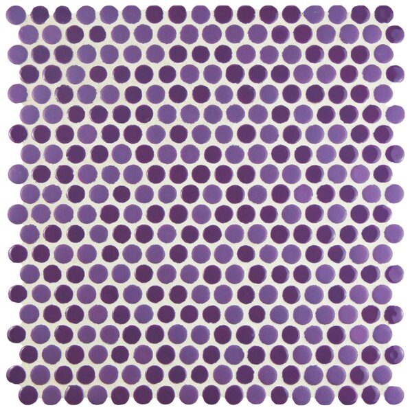 Astraea 0.62 x 0.62 Porcelain Mosaic Tile in Purple by EliteTile