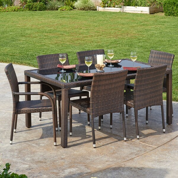 Hults 7 Piece Dining Set by Highland Dunes