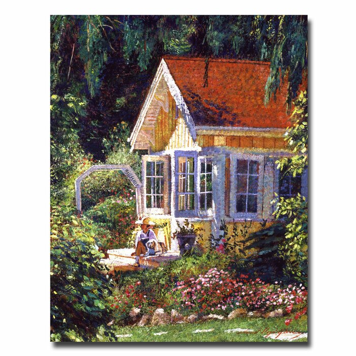 Artists Summer Cottage By David Lloyd Glover Painting Print On Canvas