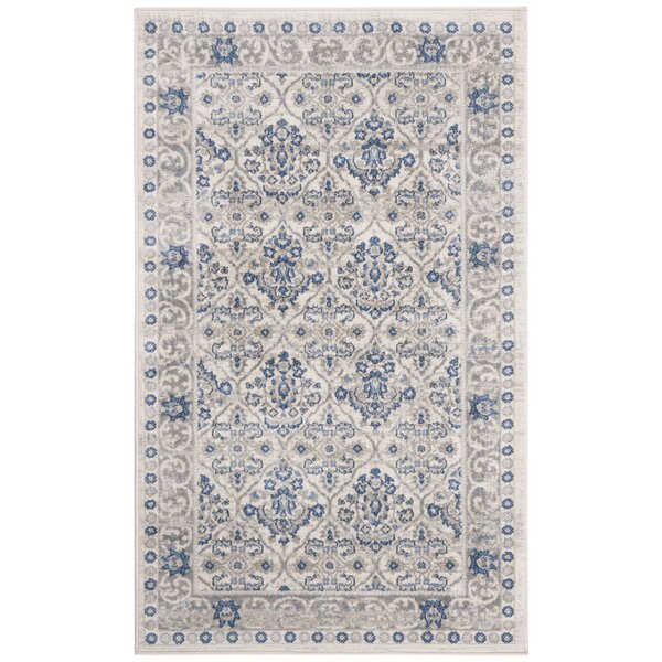 Lamartine Light Gray/Blue Area Rug by Ophelia & Co.