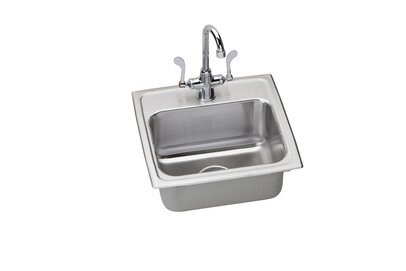 Lustertone 17 L x 16 W Kitchen Sink with Faucet by Elkay
