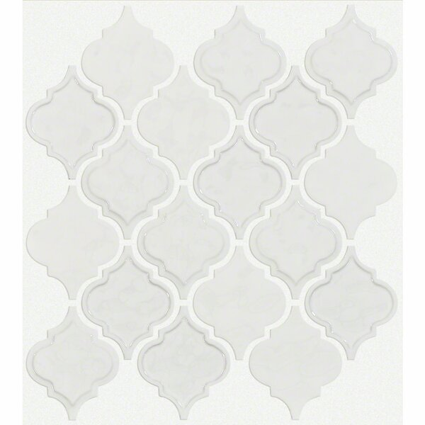 Victoria 4 x 4 Ceramic Mosaic Tile in White by Shaw Floors