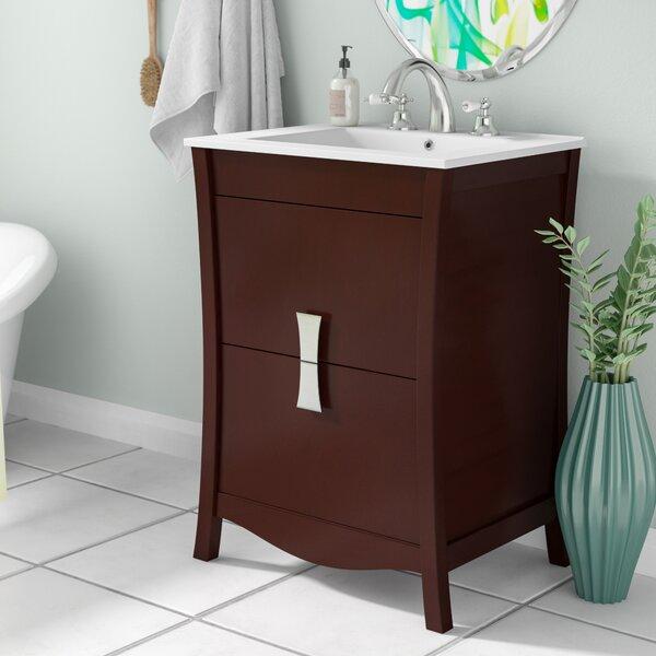 Cataldo Wood Floor Mount 24 Single Bathroom Vanity Set by Royal Purple Bath Kitchen