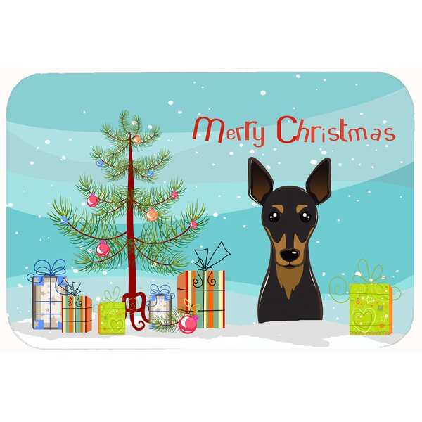 Christmas Tree and Min Pin Kitchen/Bath Mat by The Holiday Aisle