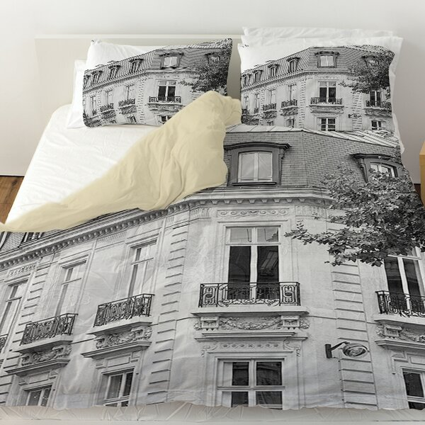A Travers Paris II Duvet Cover by Manual Woodworkers & Weavers