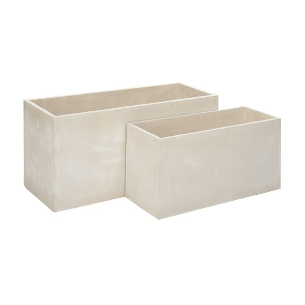 2-Piece FiberClay Planter Box Set by Cole & Grey