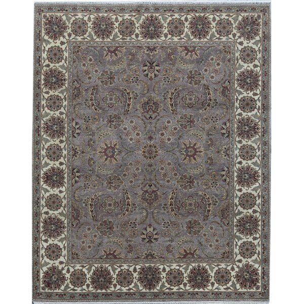 Oriental Hand-Knotted 8.2' x 10.1' Wool Brown/Cream Area Rug