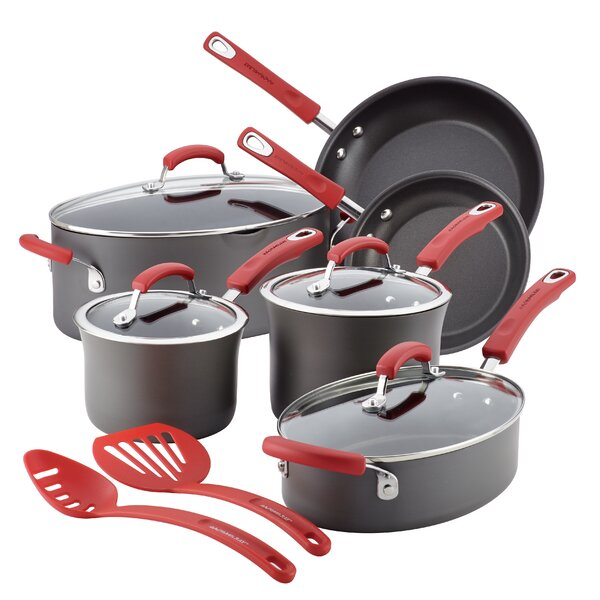 12 Piece Non-Stick Cookware Set by Rachael Ray