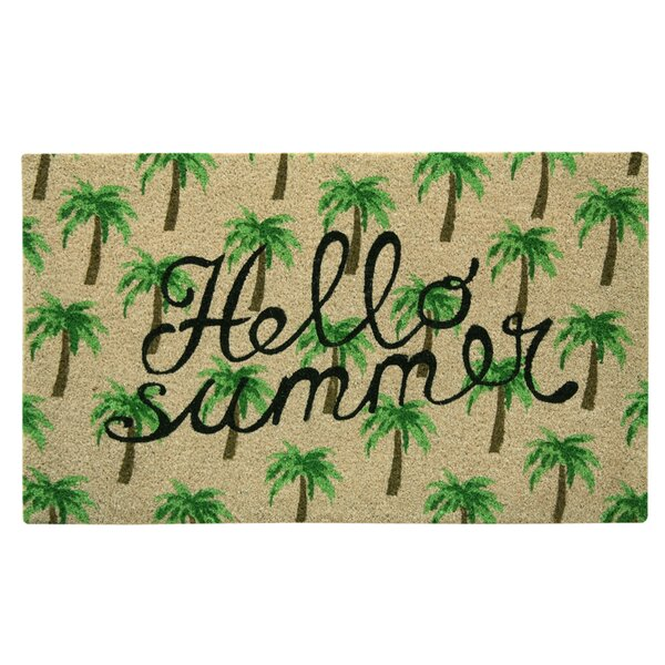 Cayuga Bleach Hello Summer Doormat by Bay Isle Home