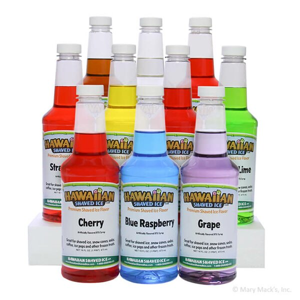 Shaved Ice and Snow Cone Syrups, 10 Flavors, 16 Ounces by Hawaiian Shaved Ice