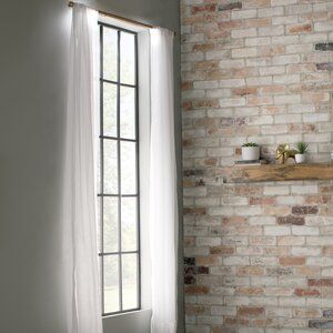 Lelandu00a0 Solid Semi-Sheer Rod Pocket Single Curtain Panel
