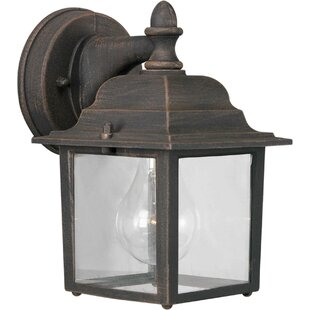 Reviews Spaulding 1-Light Outdoor Wall Lantern By Charlton Home