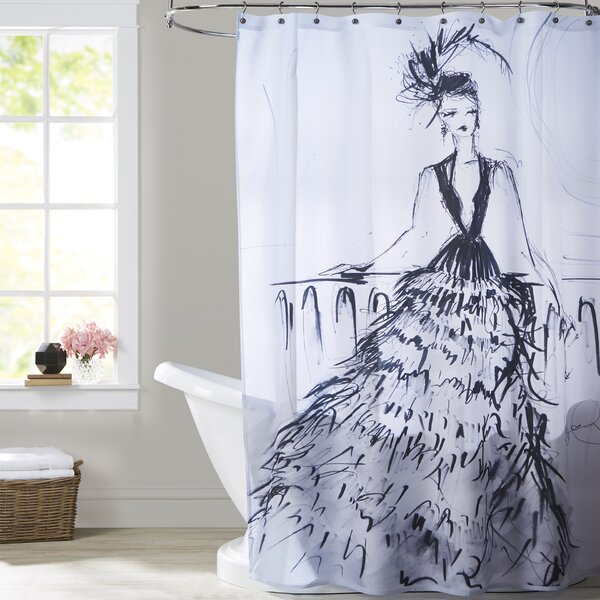 Briana Feathers and Martinis Shower Curtain by House of Hampton