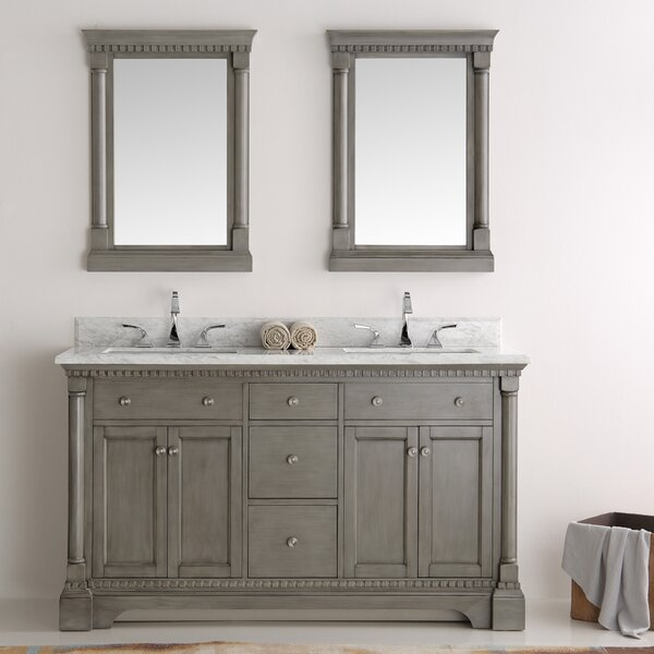 Kingston 61 Double Bathroom Vanity Set with Mirror by Fresca