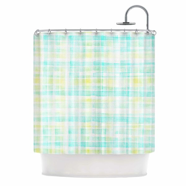 Watercolour Tartan by Michelle Drew Shower Curtain by East Urban Home