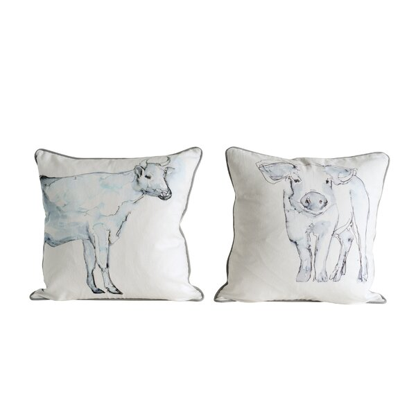 Barryton 2 Piece Animal Cotton Throw Pillow Set by Gracie Oaks