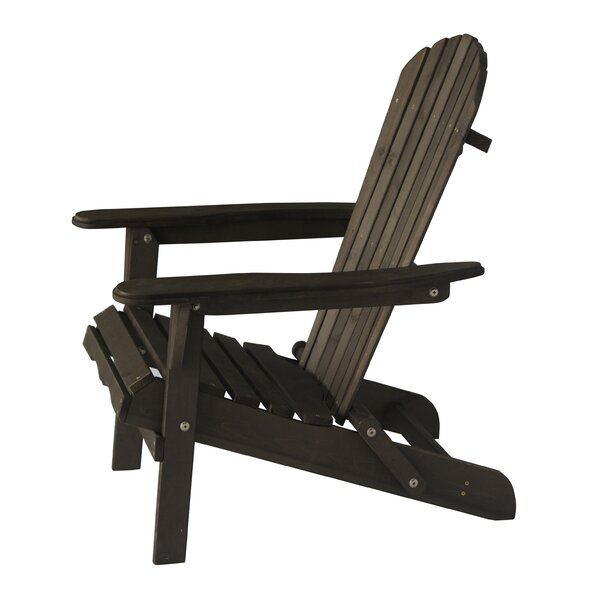 Casarez Solid Wood Folding Adirondack Chair by Hig