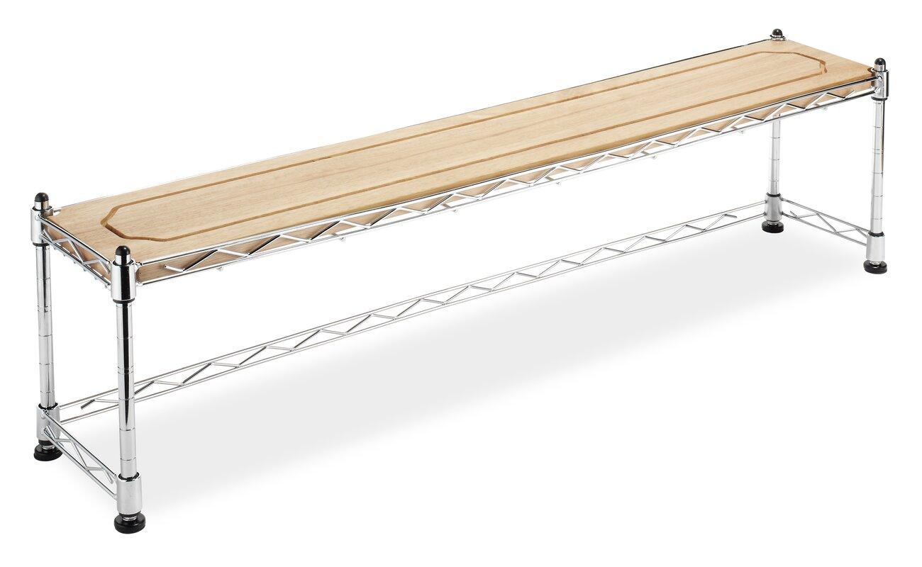 Chrome/Wood Over The Sink Shelf