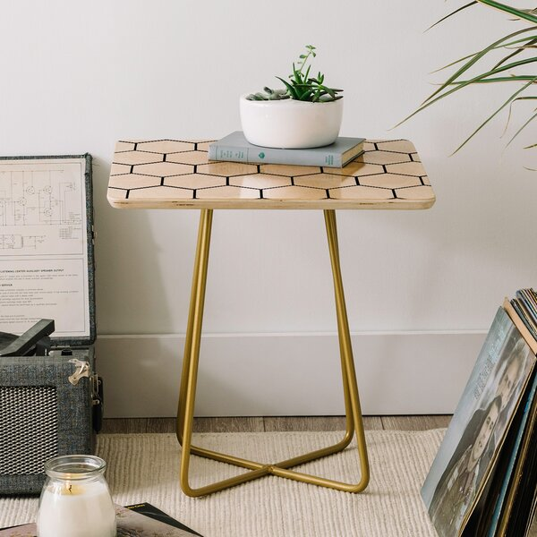 Allyson Johnson Comb End Table by East Urban Home East Urban Home