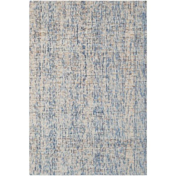 Stainbrook Hand-Tufted Dark Blue/Rust Area Rug by Beachcrest Home