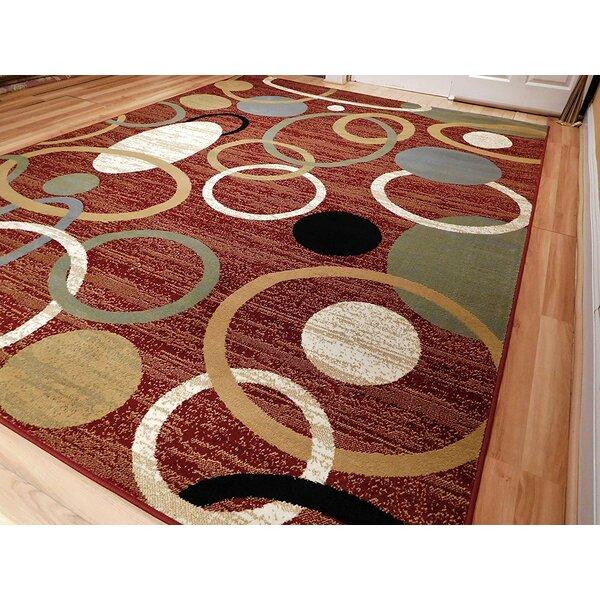 Tamalenus Wool Red Indoor/Outdoor Area Rug by Ebern Designs