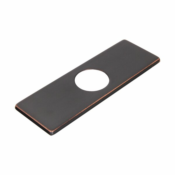 Solid Brass 3-to-1 Hole Conversion Rectangle Faucet Deck Plate by Elite