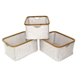 Bamboo Foldable Rectangular Linen Basket (Set of 3)  sc 1 st  Wayfair.ca & Mid-Century Modern Storage Boxes Bins Baskets u0026 Buckets Youu0027ll ...