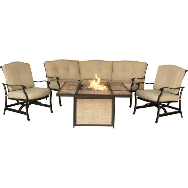 Durso 4 Piece Sofa Set with Cushions by Darby Home Co