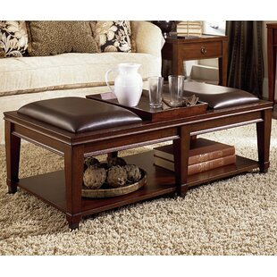 Inexpensive Fitzhugh Coffee Table with Tray Top ByDarby Home Co