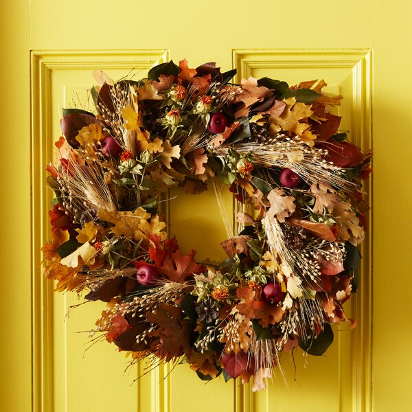 22 Apple and Wheat Wreath by Three Posts