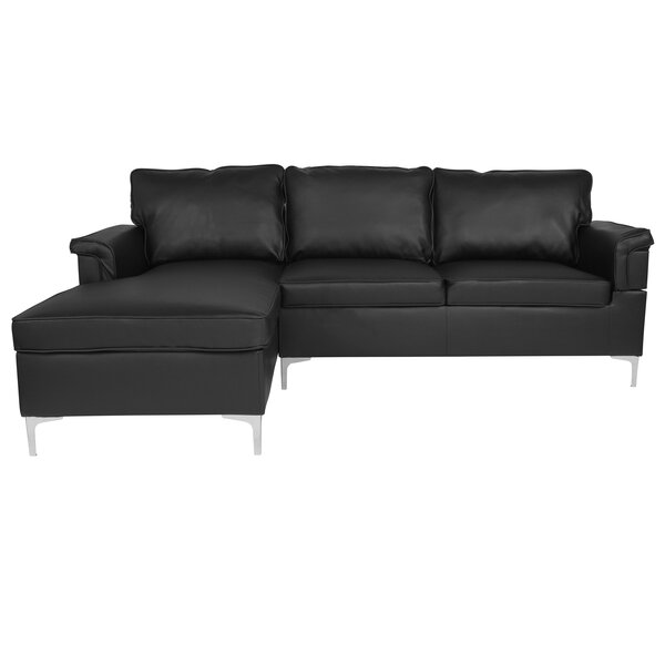 Strunk Plush Pillow Back Sectional By Ivy Bronx