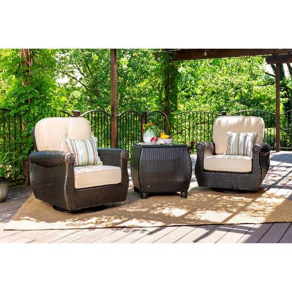Breckenridge 3 Piece Rattan Outdoor Patio with Sunbrella Cushions by La-Z-Boy Outdoor