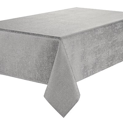 "Waterford Bedding Moonscape Tablecloth Size: 144"" L x 70"" W, Colour: Grey"