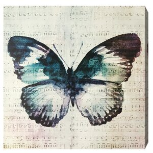 Butterfly Love Graphic Art on Plaque by Bungalow Rose