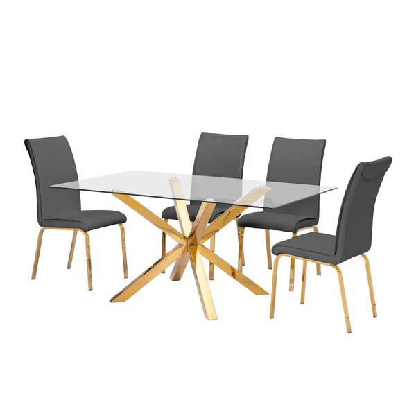 Wade 5 Piece Extendable Dining Set by Mercer41