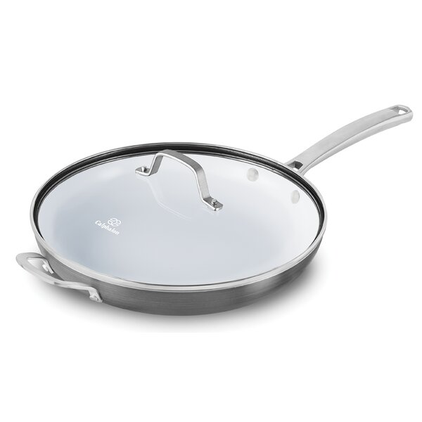 Classic Ceramic Non-Stick Frying Pan with Lid by Calphalon