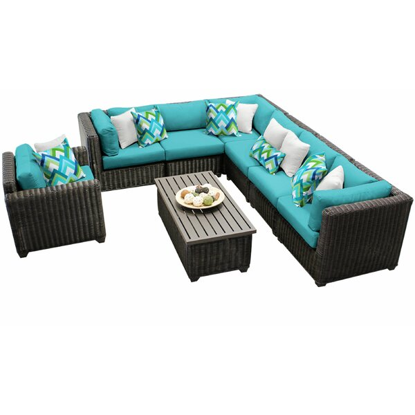 Fairfield 8 Piece Sectional Seating Group with Cushions by Sol 72 Outdoor