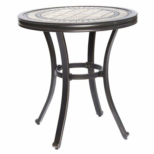 Glaser Handmade Aluminum Bistro Table by Fleur De Lis Living
