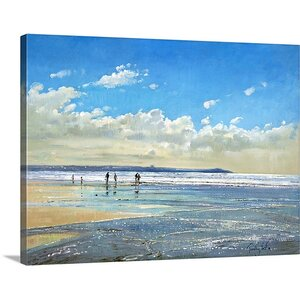'Paddling at the Edge' by Timothy Easton Painting Print on Canvas by Great Big Canvas