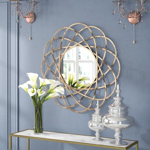 Aram Gold Metal Wall Mirror by Willa Arlo Interiors